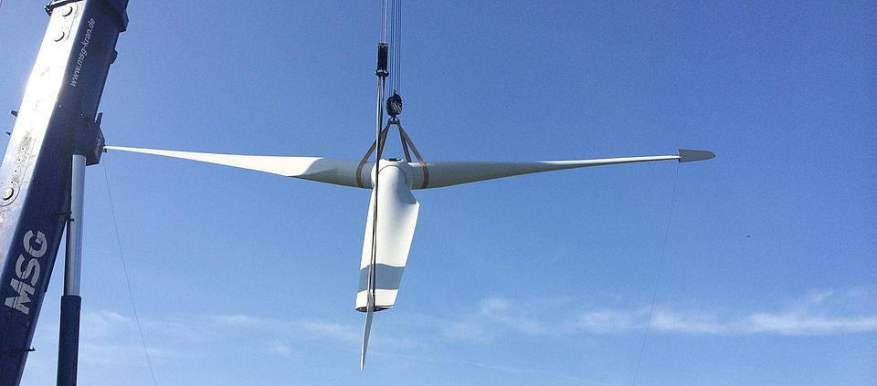 Commercial Wind Turbine Disassembly - ROTH International